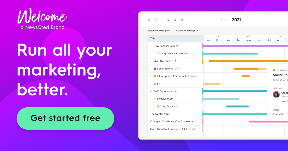 Get started for free with Welcome for content collaboration